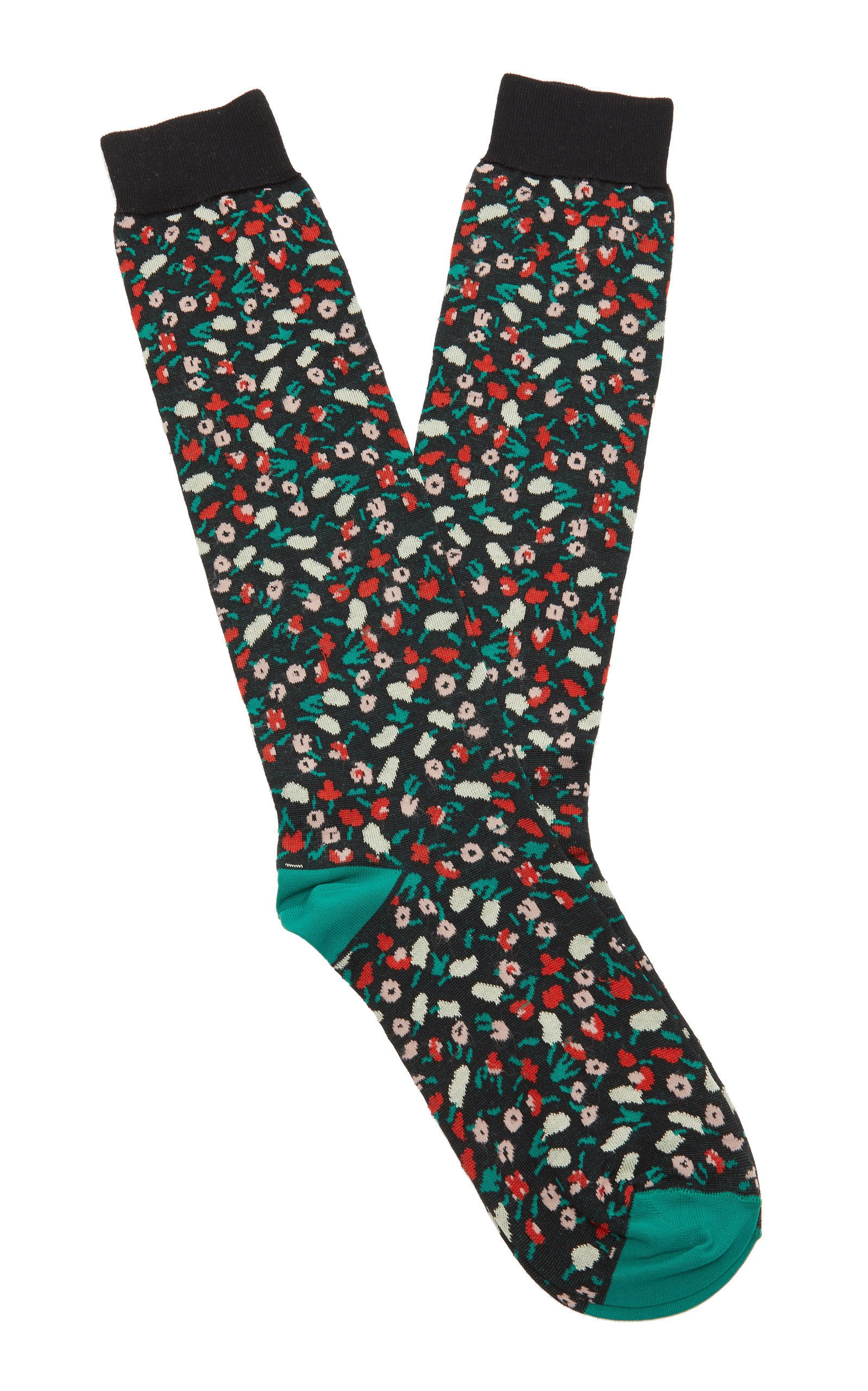Marni Floral-Print Cotton-Blend Socks