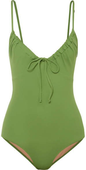 Cleo Ruched Swimsuit - Green