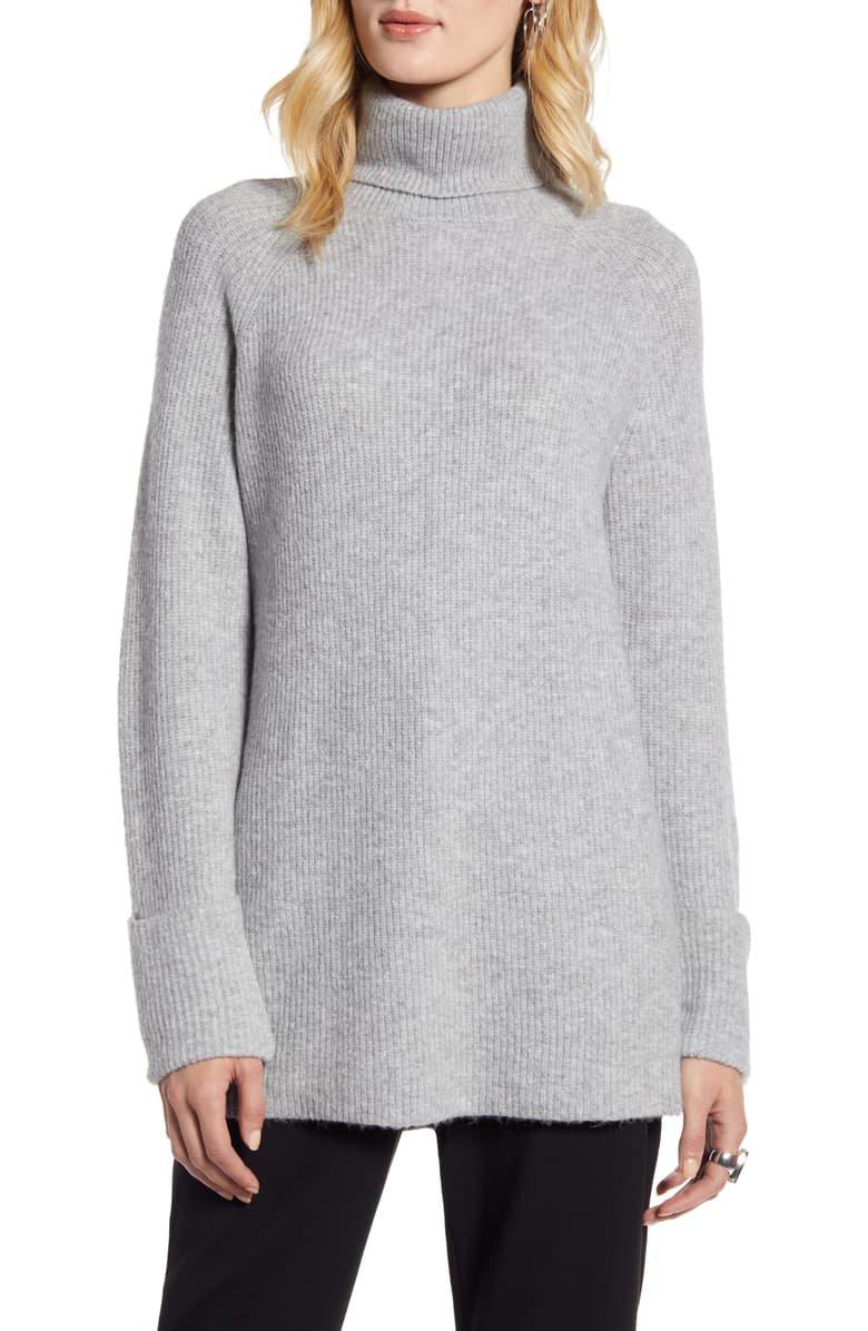 Halogen® Ribbed Turtleneck Sweater | Nordstrom