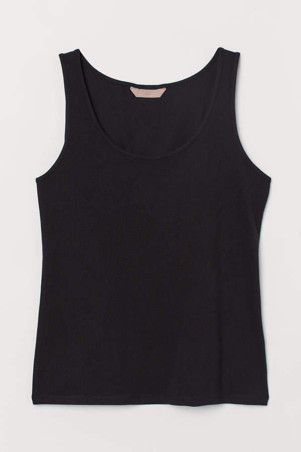 H&M+ Cotton Tank Top - Black