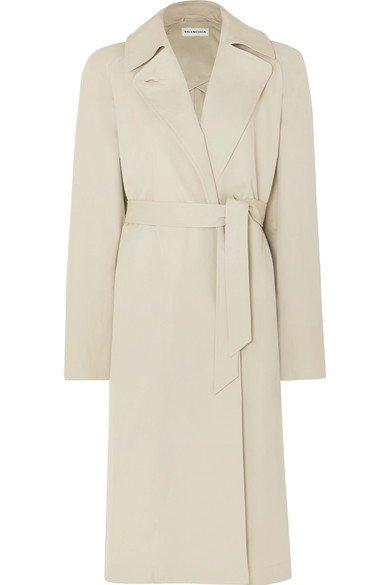 Balenciaga | Oversized cotton-gabardine trench coat | NET-A-PORTER.COM