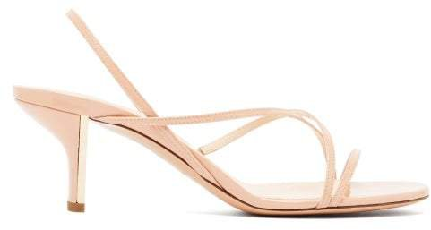 Leelo Patent Leather Sandals - Womens - Nude