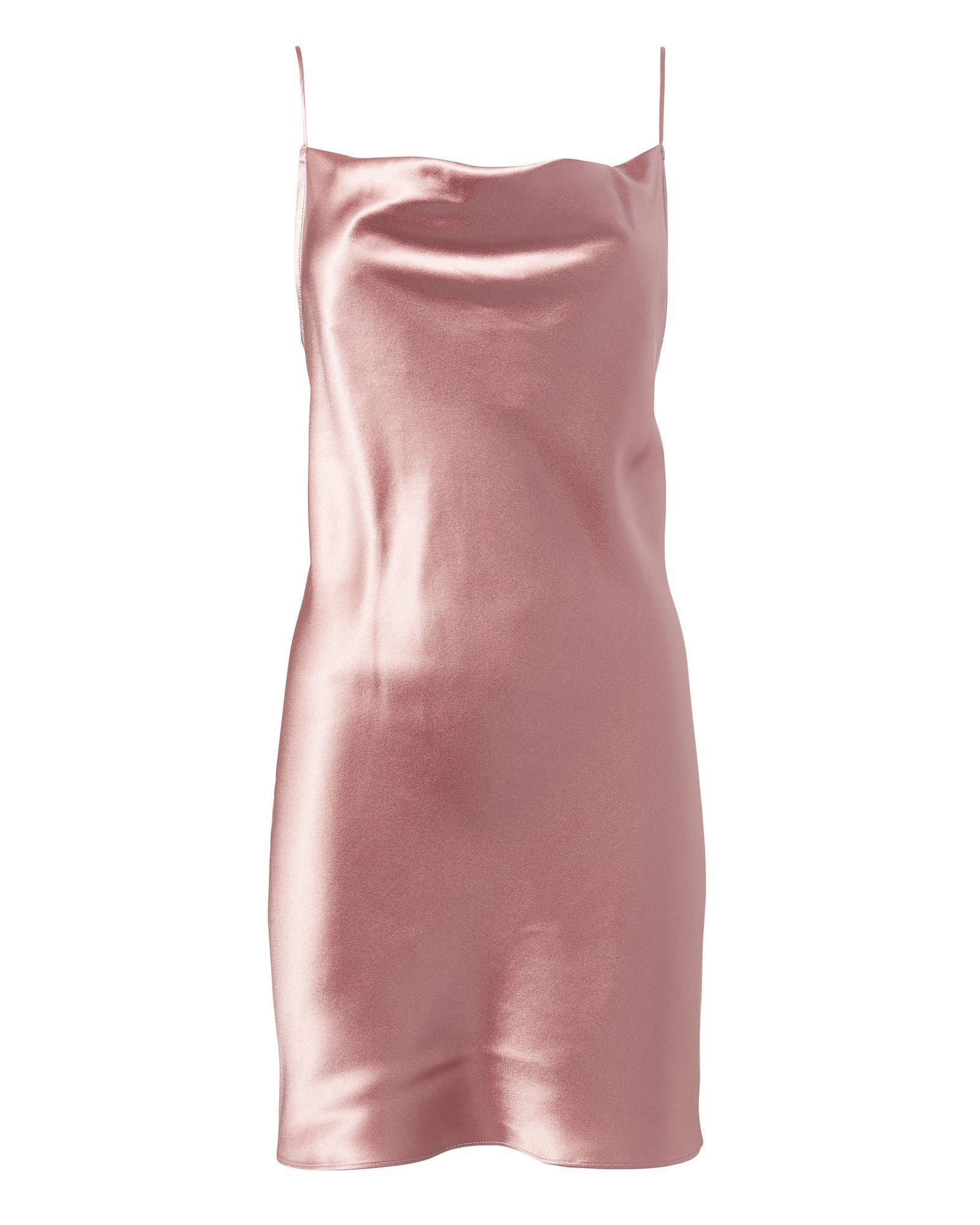 Pink Silk Slip Dress | Fleur Du Mal