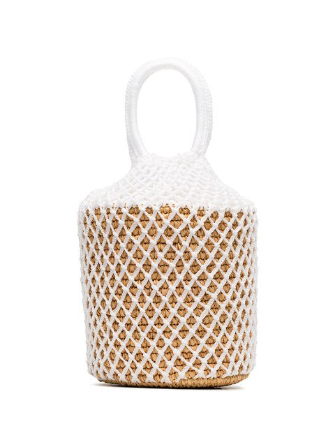 Sensi Studio White Straw And Net Bucket Bag $197 - Buy AW18 Online - Fast Global Delivery, Price