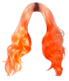 Orange long hair