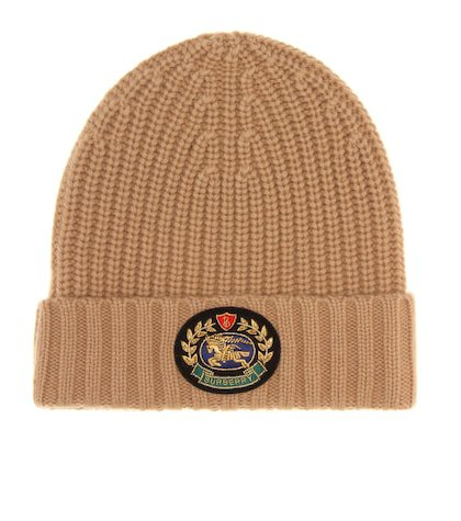 Crest wool and cashmere beanie