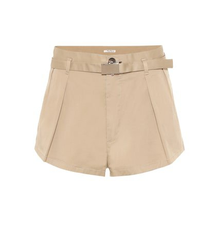 High-rise stretch-cotton shorts