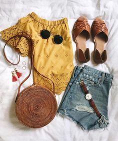 Pinterest - Love that mustard yellow for summer and even into fall   Summer Fashion