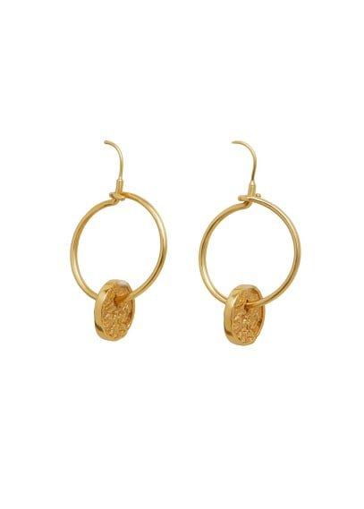 MANGO Hoop pendant earrings