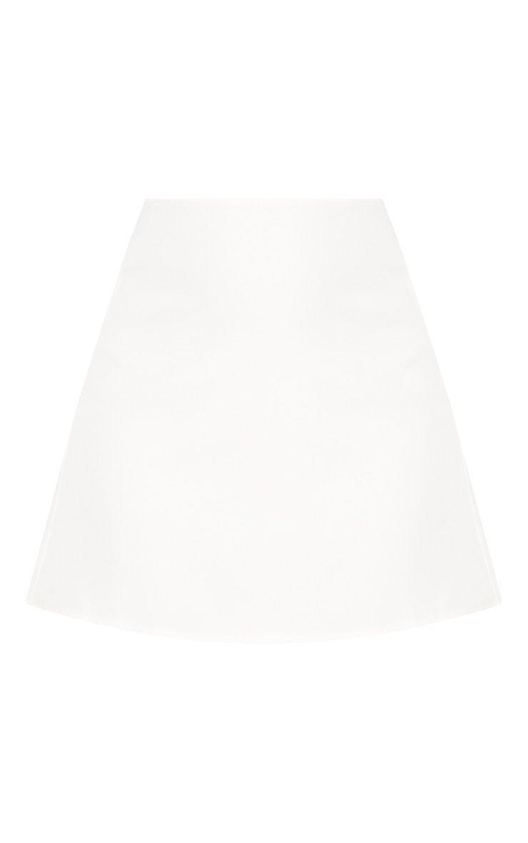 White Woven Mini Skirt | Skirts | PrettyLittleThing