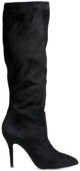 High-heeled boots - Black