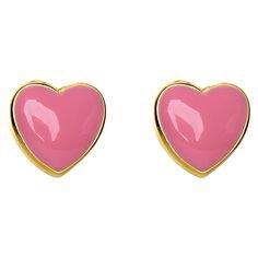 pink heart earings