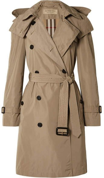 The Amberford Hooded Shell Trench Coat - Mushroom