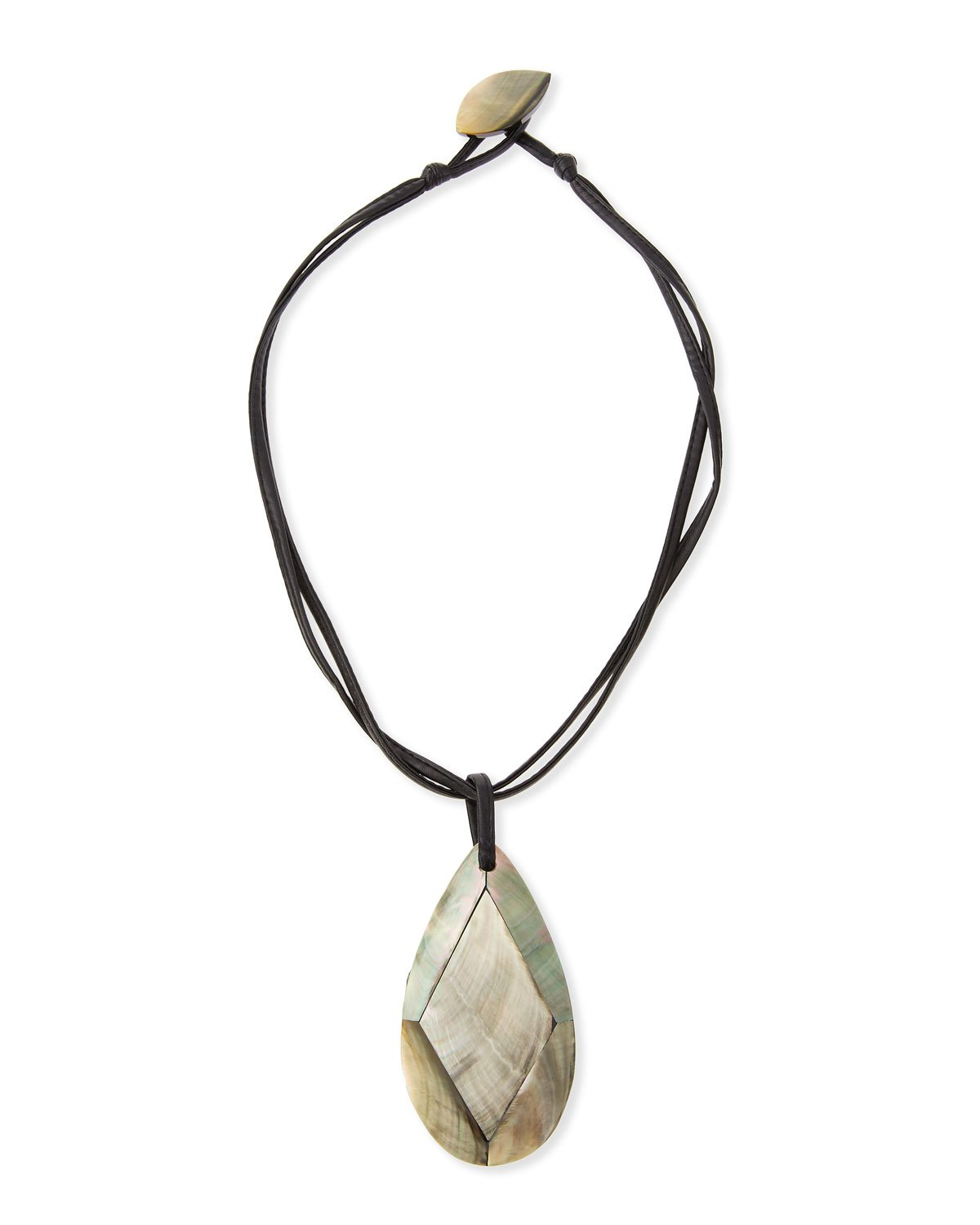 "Viktoria Hayman 19"" Faceted Mother-of-Pearl Pendant Necklace"