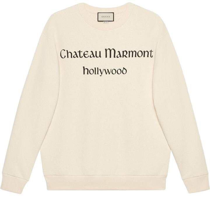 Oversize sweatshirt with Chateau Marmont