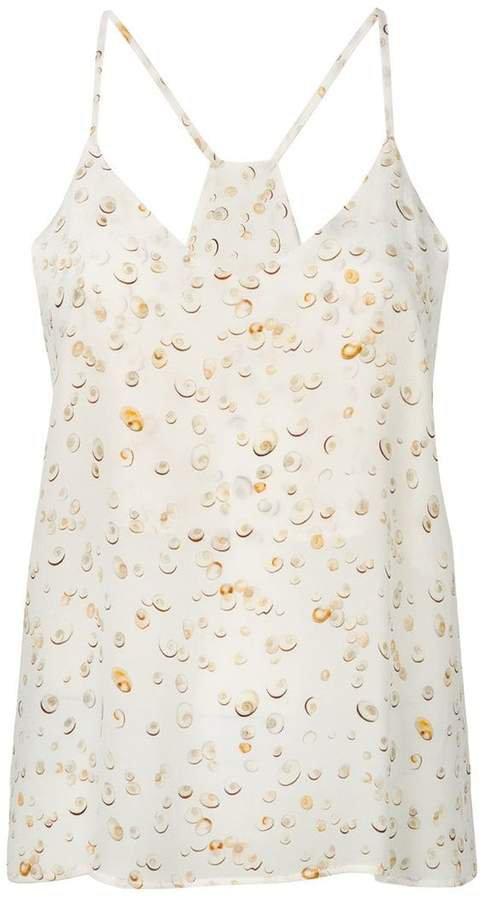 seashell printed cami top