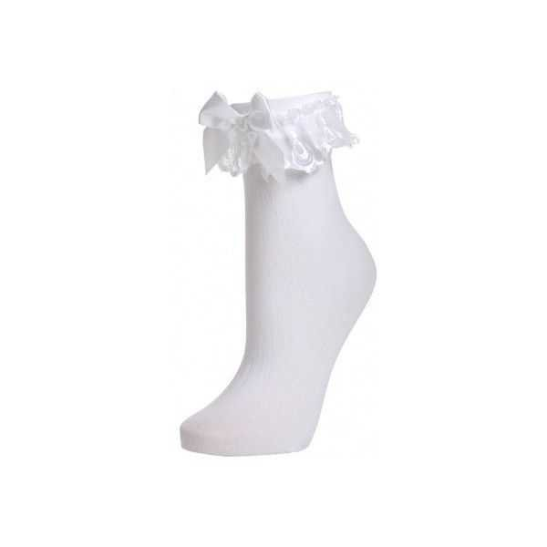 white ankle socks with lace trim - Google Search
