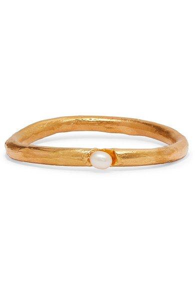 Alighieri | Dealer's Choice gold-plated pearl bracelet | NET-A-PORTER.COM