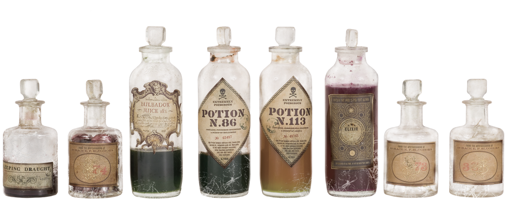 Eight Magical Potions and Bottles   Harry Potter & Hogwarts: Prints Pictures & Posters  Collectibles