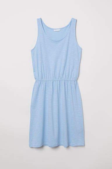 Sleeveless Jersey Dress - Blue