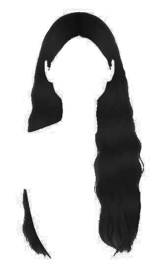 black wavy hair edit