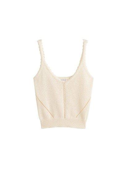 MANGO Knit strap top