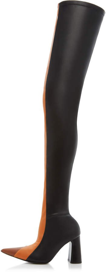 Testorf Leather Thigh High Boots