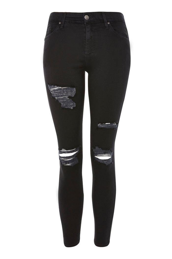 PETITE Black Leigh Jeans   Topshop