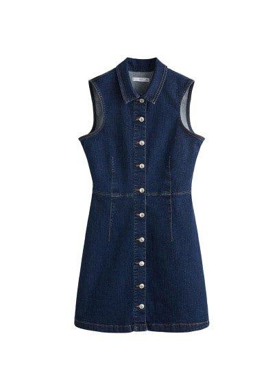 MANGO Button denim dress