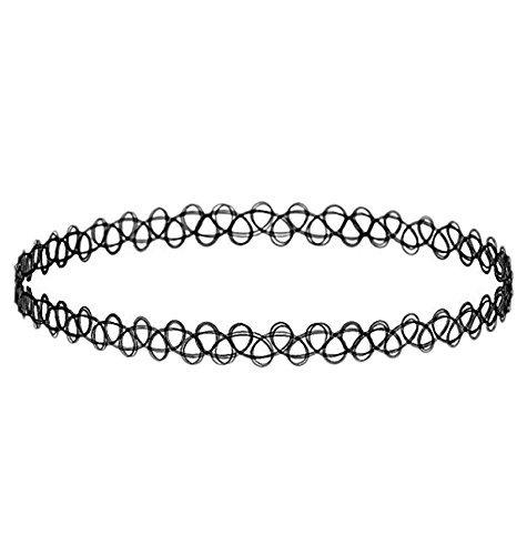 Amazon.com: Mangal Black Plastic Choker Necklace For Women: Jewelry