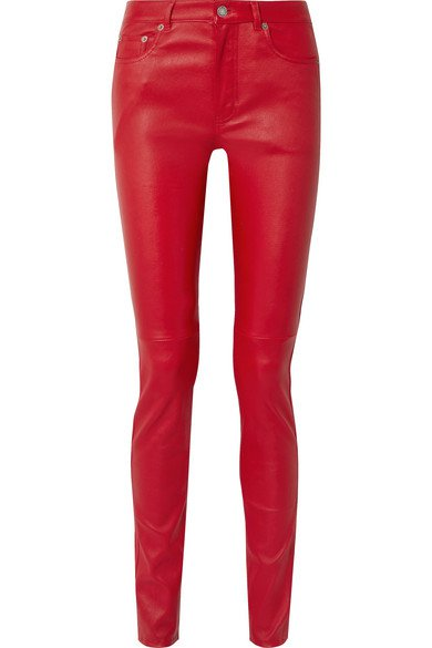 SAINT LAURENT | Leather skinny pants | NET-A-PORTER.COM