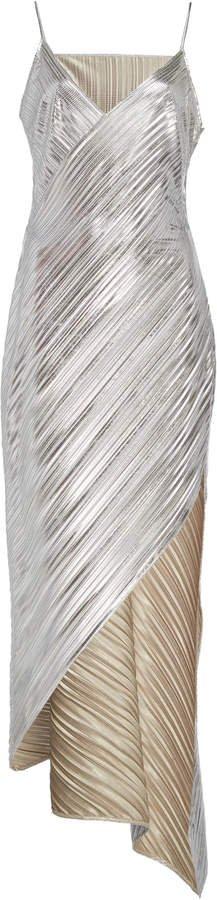 Lame Asymmetrical Cocktail Dress