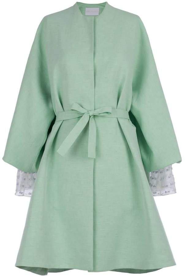 RUSU - Green Linen Kimono Coat