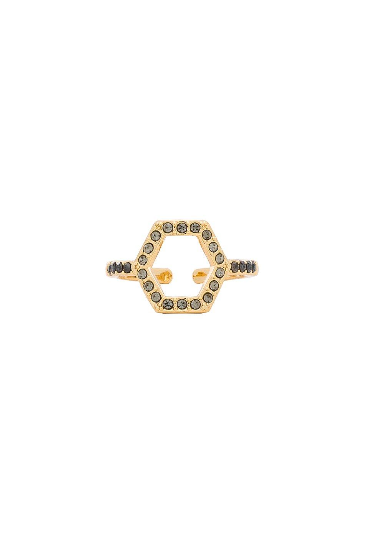 Hexagon Open Back Ring