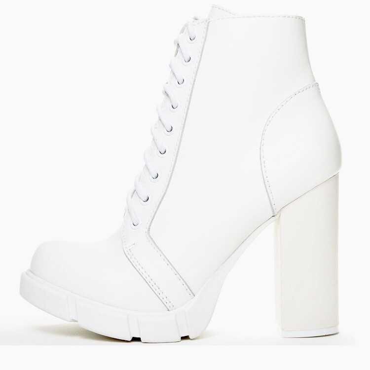 Jeffrey Campbell 'Solar': white combat boot