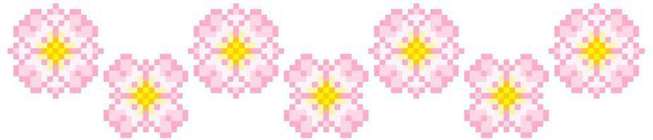 Pastel Pink Flowers Border
