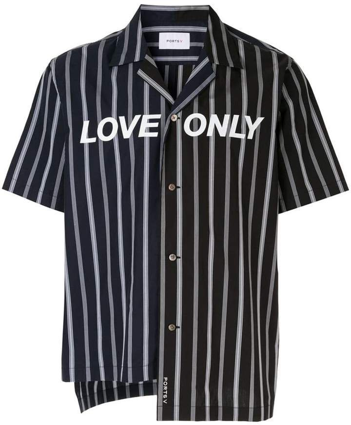 Ports V Love Only striped shirt