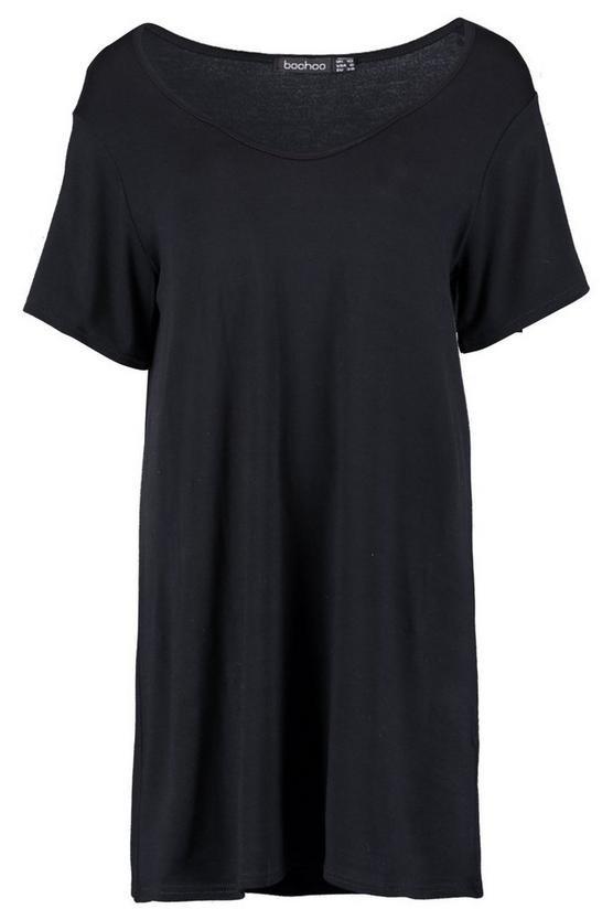 V Neck Tshirt Dress | Boohoo