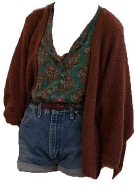 floral 80s outfit