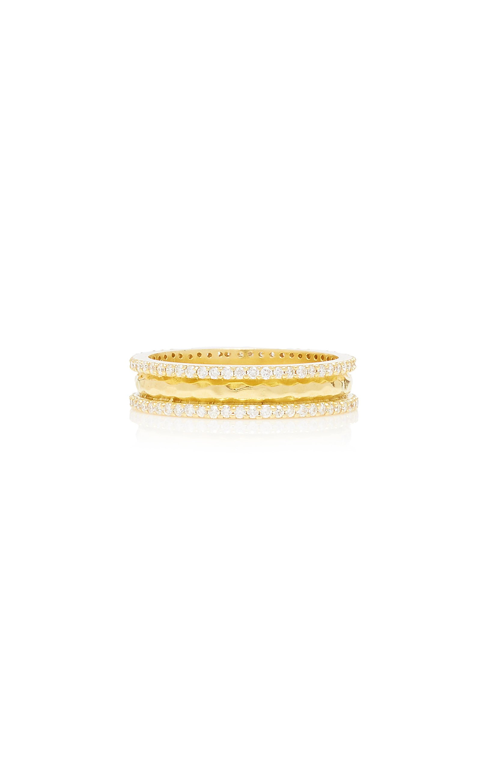 Amrapali Chandni 18K Gold and Diamond Ring Size: 6