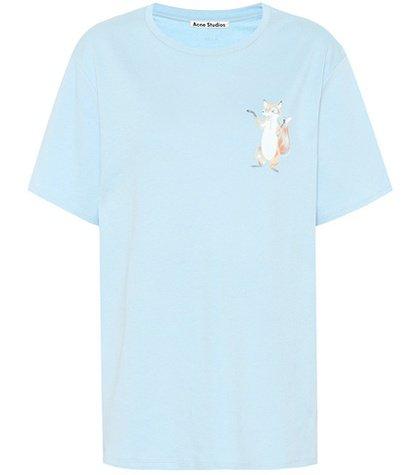 Fox printed cotton T-shirt
