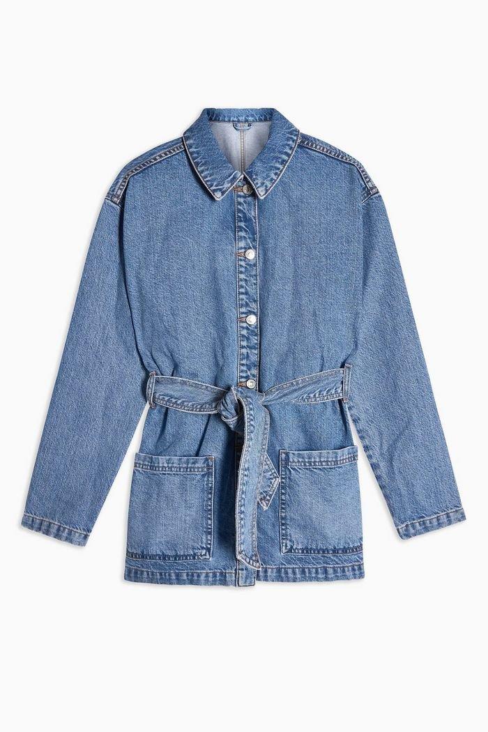 Belted Denim Jacket | Topshop blue