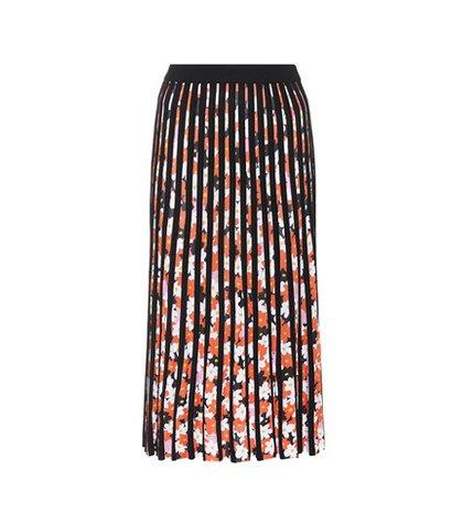 Jackie Flowers pleated midi skirt