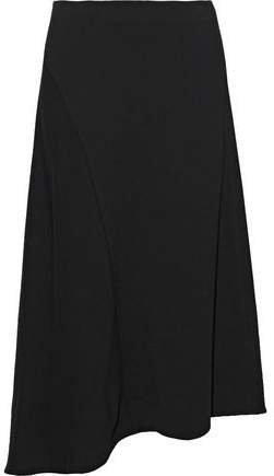 Asymmetric Crepe Skirt