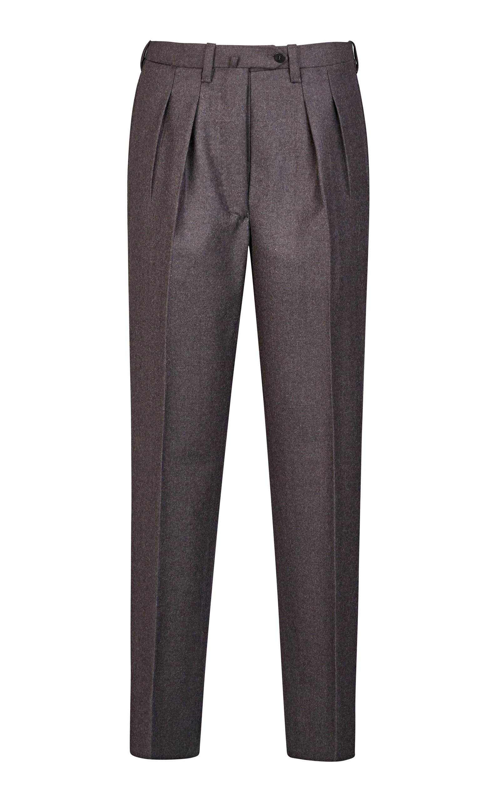 Giuliva Heritage Collection Husband Flannel Tailored Wool Tapered Pants