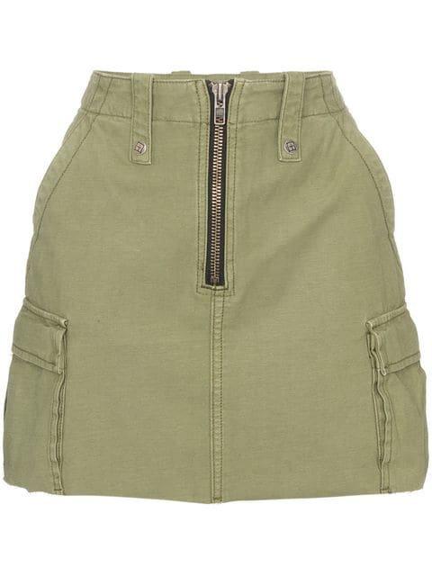 Ksubi Crypt high-waisted mini skirt
