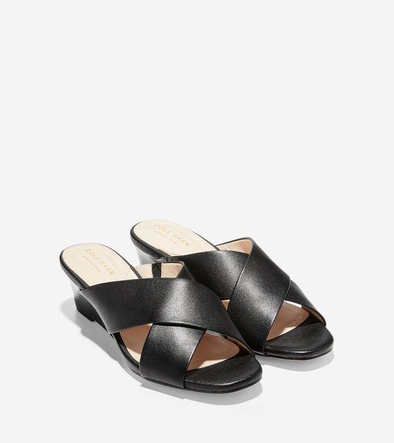 Women's Adley Grand Wedge Sandals 50MM in British Tan| Cole Haan