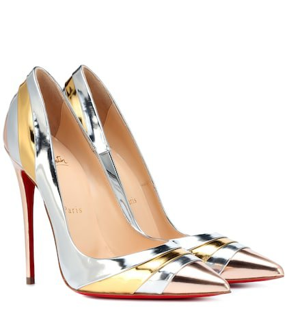 Eklectica 120 metallic leather pumps
