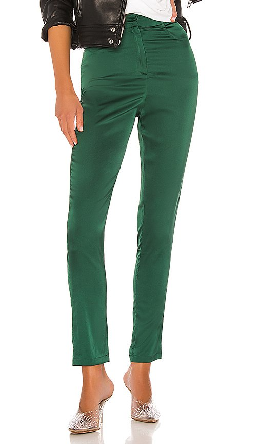 superdown Gretchen High Waisted Pant in Emerald Green | REVOLVE