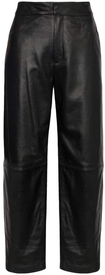 Novara high-rise wide-leg trousers